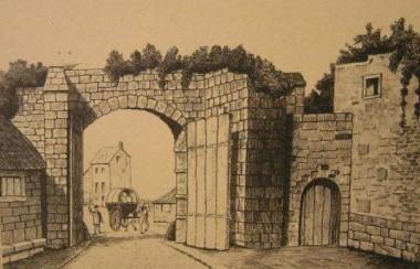 Liège, la porte St-Martin, en 1815