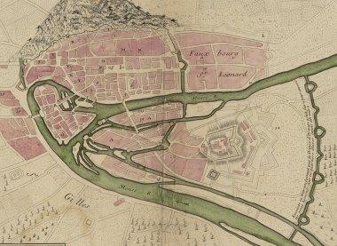 Plan de la ville et citadelle de Liège, 1693 , détail