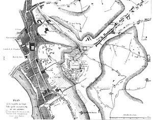 Liege: plan de la citadelle vers 1789