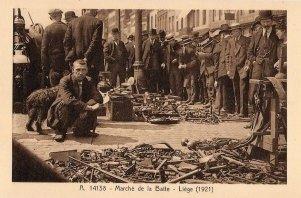 Liège, le marché de la batte, 1921