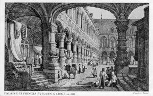 Liège, palais des Princes-Eveques, XIXè siècle
