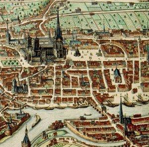 Liège, panorama en 1649 par Julius Milheuser, détail