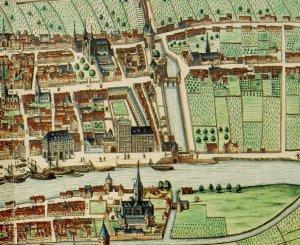 Liège, panorama de 1649 par Julius Milheuser, Curtius et St-Barthélémy