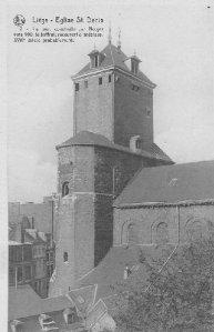 Liège, église St-Denis, tour construite par Notger vers 990