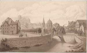 Liège, 1826, Pont d\'Avroy, St-Jean, St-Martin