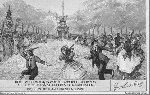 Liège, les Liégeois dansent le cramignon