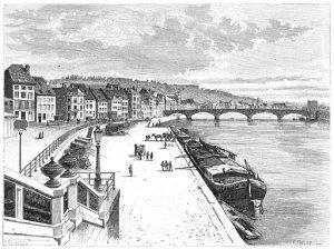 Liège, quai et Pont des Arches