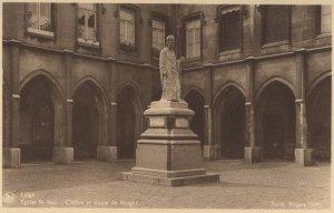 Liège, cloître St-Jean et statue de Notger