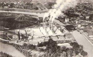 Liège, mine et fonderie de zinc de la Vieille Montagne à Angleur