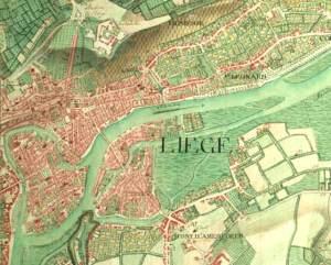 carte de Liège en 1775