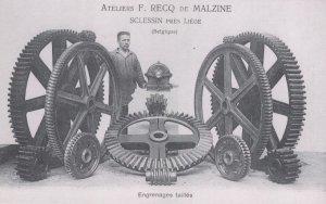 Engrenages taillés des ateliers Recq de Malzine à Sclessin, Liège