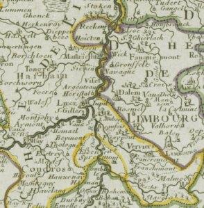 Carte:Les Dix-Sept Provinces des Païs-Bas ou Théâtre de la Guerre dans les Pays-Bas, Chez Dezauche, Paris, 1794, extrait.