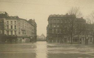 Liège, place de la République, inondation de 1926