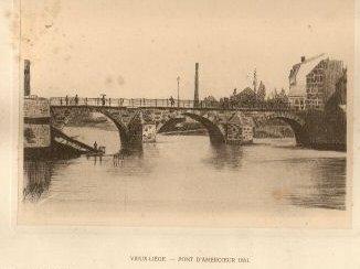 le pont d'Amercoeur à Liège, en 1861