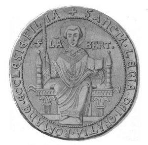 Liège, sceau sur une charte de 1238
