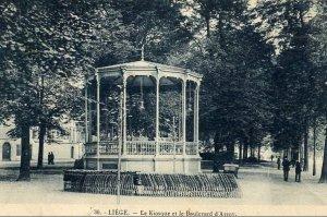 Liège, le kiosque sur le boulevard d'Avroy
