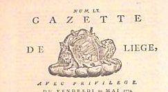 Gazette de Liège, avec privilège