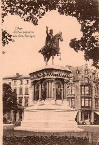 Liège, statue de Charlemagne